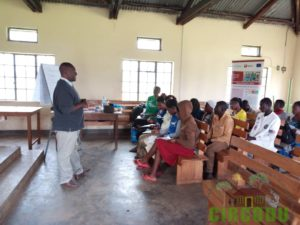 Facilitating a session on quality of briquettes
