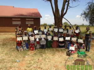 Participants from Kamesoi Womens Group receiving their certificates on completion of the 5 day training course