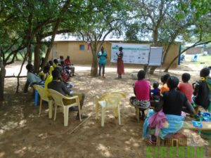 Participants from Ngoghomyo group take part in the Theory session